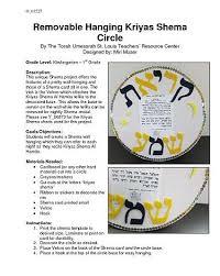 Brachot Chart Chinuch Org Removable Hanging Kriyas Shema Circle