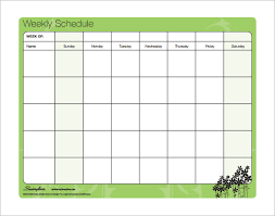 Schedule Word Word Schedule Template Weekly Printable Schedule Template