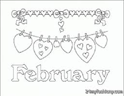 Small Picture February Coloring Pages chuckbuttcom