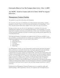 Sample Resume: Management Trainee Resume Sports Cover Letter.