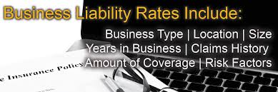 small business liability insurance rates are based on several factors
