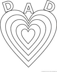 Small Picture Fathers Day heart belongs to Daddy coloring page poster or