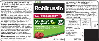 Robitussin Maximum Strength Cough Plus Chest Congestion Dm