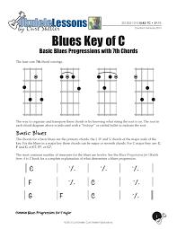 Blues Chord Progression Chart Learning Ukulele With Curt Basic Blues Progressions In C Major