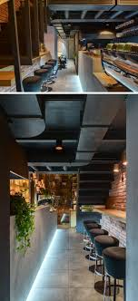 coffee shop lighting. Located Under The Stairs In This Modern Coffee Shop, Is A Small Nook That\u0027s  Large Shop Lighting