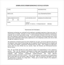 sample employee evaluations employee evaluation forms 9 samples examples format