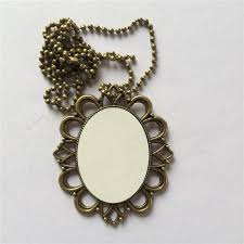 sublimation necklaces pendants retro vintage necklace pendant for thermal transfer printing blank diy jewelry a1736 zcad6133