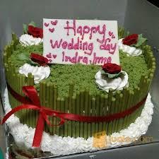 Kue Ultah Costum Cake Greentea Cake Dm20 Bandung Jualo