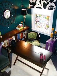 office space colors. Deep Wall Color Enhances This Home Office Space Colors T