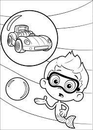 Kids N Fun Kleurplaat Bubble Guppies Nonny En Raceauto