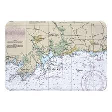 Ct Guilford Madison Ct Nautical Chart Memory Foam Bath