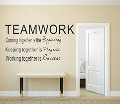 office wall art. LUCKKYY Large Teamwork Definition Office Vinyl Wall Decals Quotes Sayings  Words Art Decor Lettering Office Wall Art N