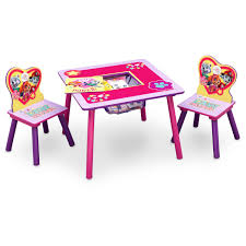 paw patrol skye and everest toddler table and chair set with storage com