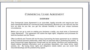 Commercial Lease Agreement - Youtube