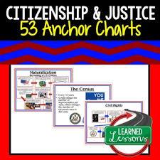 Citizenship Anchor Charts Citizenship Posters Civics Anchor Charts