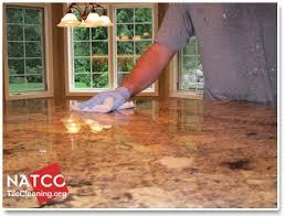 saturating granite countertop with sealer