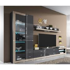 Small Picture Tv unit storage living room modern wall units high gloss