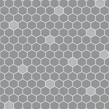 Wallpaper For Kitchen Rasch Hexagon Pattern Glitter Kitchen Bathroom Vinyl Wallpaper 861914