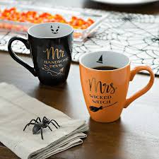 Browse tons of unique designs or create your own custom coffee mug with text and images. Mr Mrs Halloween Witch Mugs Set Of 2 Kirklands