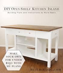build a diy open shelf kitchen island