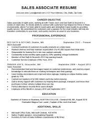 Sales Associate Resume Selling Examples Sample Retail Store Resume
