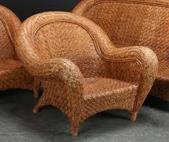 Pottery Barn  U0027Malabaru0027 Rattan Garden Set Pottery Barn Chair A18
