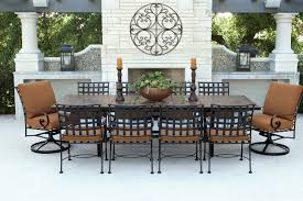 table features a tile top that s hardy enough for any season and easy to clean cushions are fade and water resistant