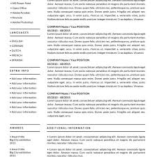 Resume Templates The Best Resume 2018 34 Outathyme Com