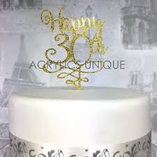 30th Birthday Cake Topper 30 Acrylic Custom Age 18 21 25 40 50 60 70