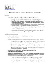 Mechanical Engineer Resume Template Fascinating Mechanical Engineering Technician Resume Sample Mechanical