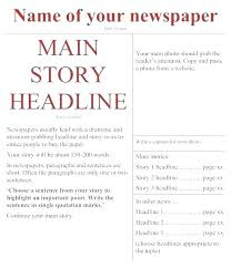 Editable Newspaper Template Word Free Newspaper Templates Print And Digital Newspaper