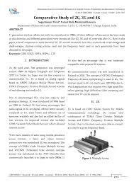 Pdf Comparative Study Of 2g 3g And 4g