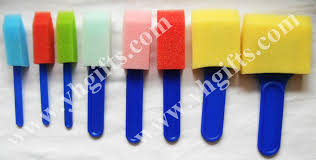 sponge brush art. 16pcs/lot,mixed size sponge brush,art stamp,roller stamp,craft material,early educational toys,kindergarten crafts.-in drawing toys from brush art a