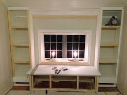 Built In Bookcase Diy How To Build A Window Seat And Built In Bookcases Tuckers