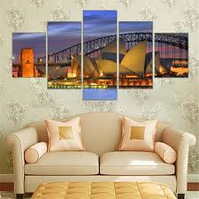 modern no framed canvas painting harbour bridge picture wall art sydney landscape home decoration for living on wall art sydney with modern no framed canvas painting harbour bridge picture wall art