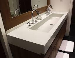 this is a custom 48 concrete bathroom vanity sink for a contemporary bathroom by trueform