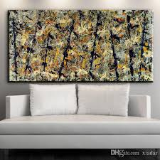 2018 jackson pollock number 48 canvas print art copy painting whole home wall abstract art oil painting from xiadar 6 83 dhgate com