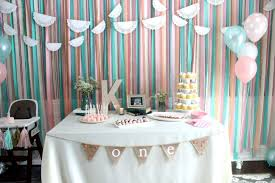 streamers decoration lovely cute as a on 1st birthday party