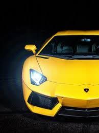 preview wallpaper lamborghini yellow sports car headlight front view