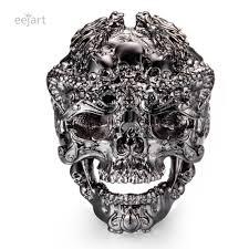 2019 eejart mens walking evil skull ring 316l snless steel men boys sier black cool man biker ring from lbdwatches 40 73 dhgate