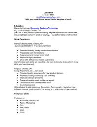 Ultimate Great Computerls Resume For Your Puter Example Template Of