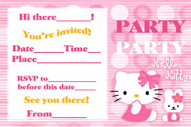 bday invitation cards printable hello kitty party cards printable hello kitty party cards invites