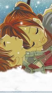 Romantic Anime iPhone wallpaper