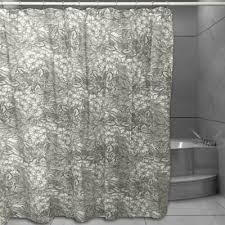 vintage shower curtain. Floral Sketch Shower Curtain In Grey Vintage I
