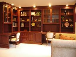 home office cabinetry. Cherry Wood Finish Home Office Cabinetry