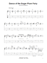 dance of the sugar plum fairy sheet music dance of the sugar plum fairy guitar tab by tony daddono guitar
