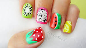 5 Nail Designs 5 Summer Fruit Nail Art Designs Fruit Nail Art Fruit