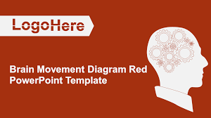 Brain Movement Diagram Red Powerpoint Template Download Ppt Theme