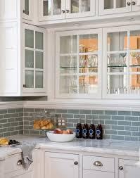 white kitchen glass backsplash. Beautiful Glass Blue Glass Tile To White Kitchen Backsplash Y