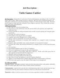 Cashier Job Description Duties Restaurant Resume Fast Food And